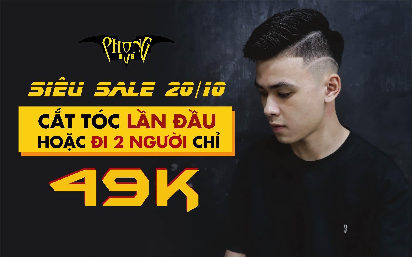 Khuyến mãi 20/10: Phong BvB sale cắt tóc 49k - Đẹp trai thả ga